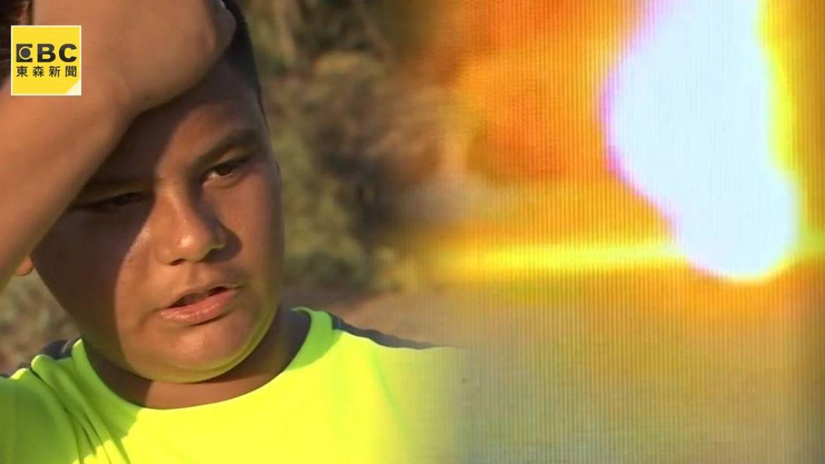 直擊!男童遭閃電擊中成火團 「身體燃燒4小時」逃死