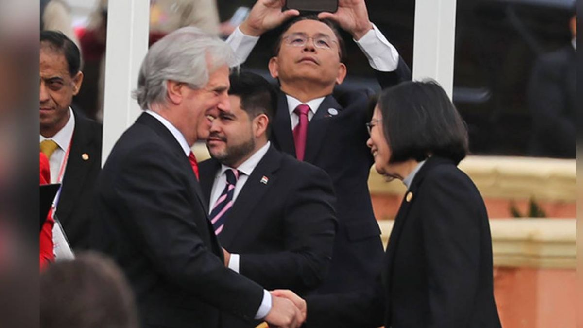 蔡總統出席阿布鐸就職典禮  與6國元首同台