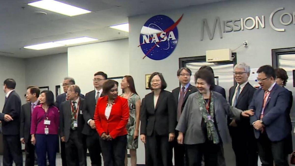 台灣元首第一人!蔡總統參訪美聯邦機構NASA
