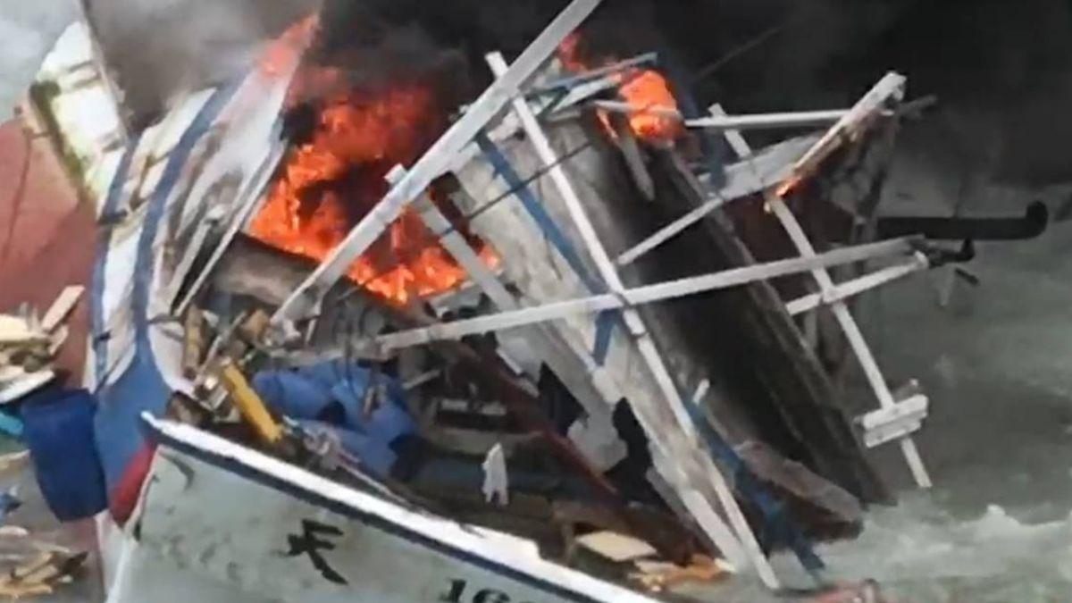萬里紅龍碼頭漁船擱淺 7船員一度受困