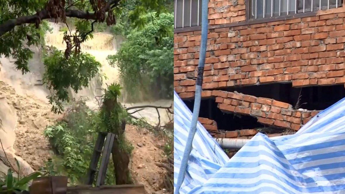 燕巢6民宅地基裸露 警緊急封鎖疏散17名住戶
