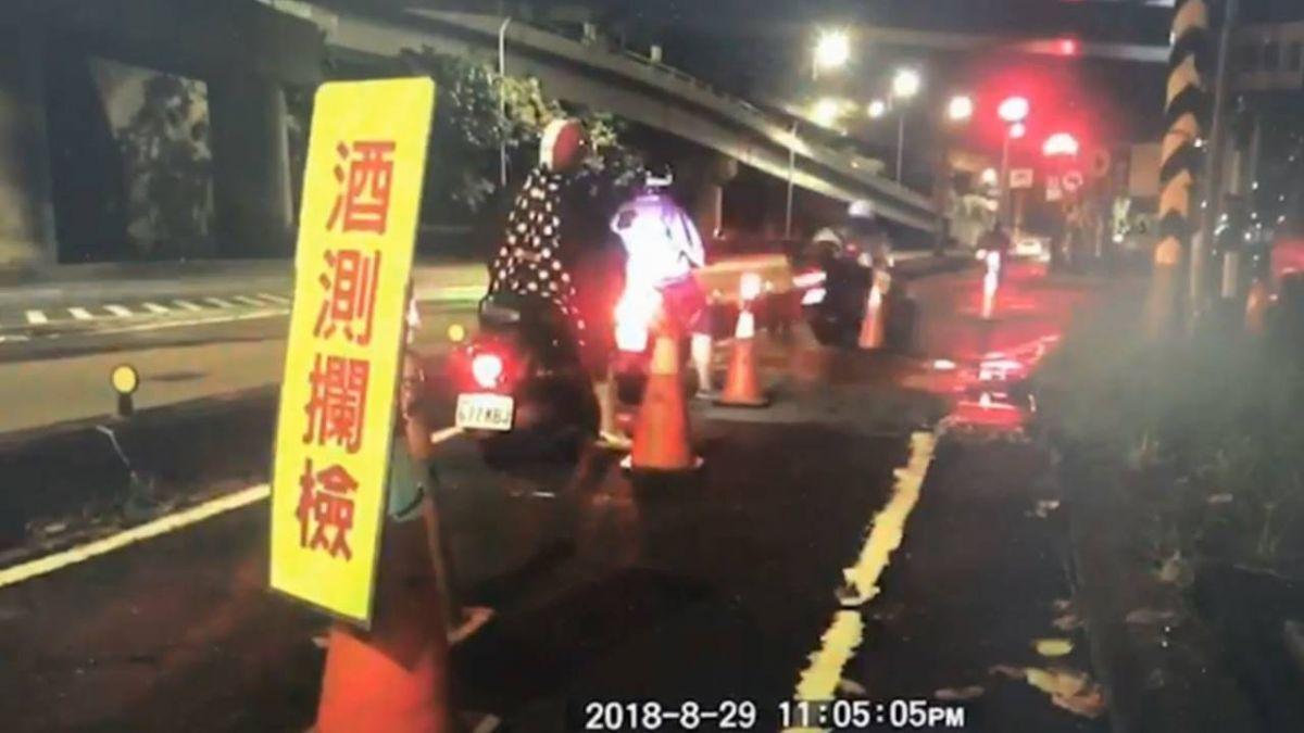 酒駕被逮竟衝撞臨檢點…拖行員警5公尺 辯:有人追我