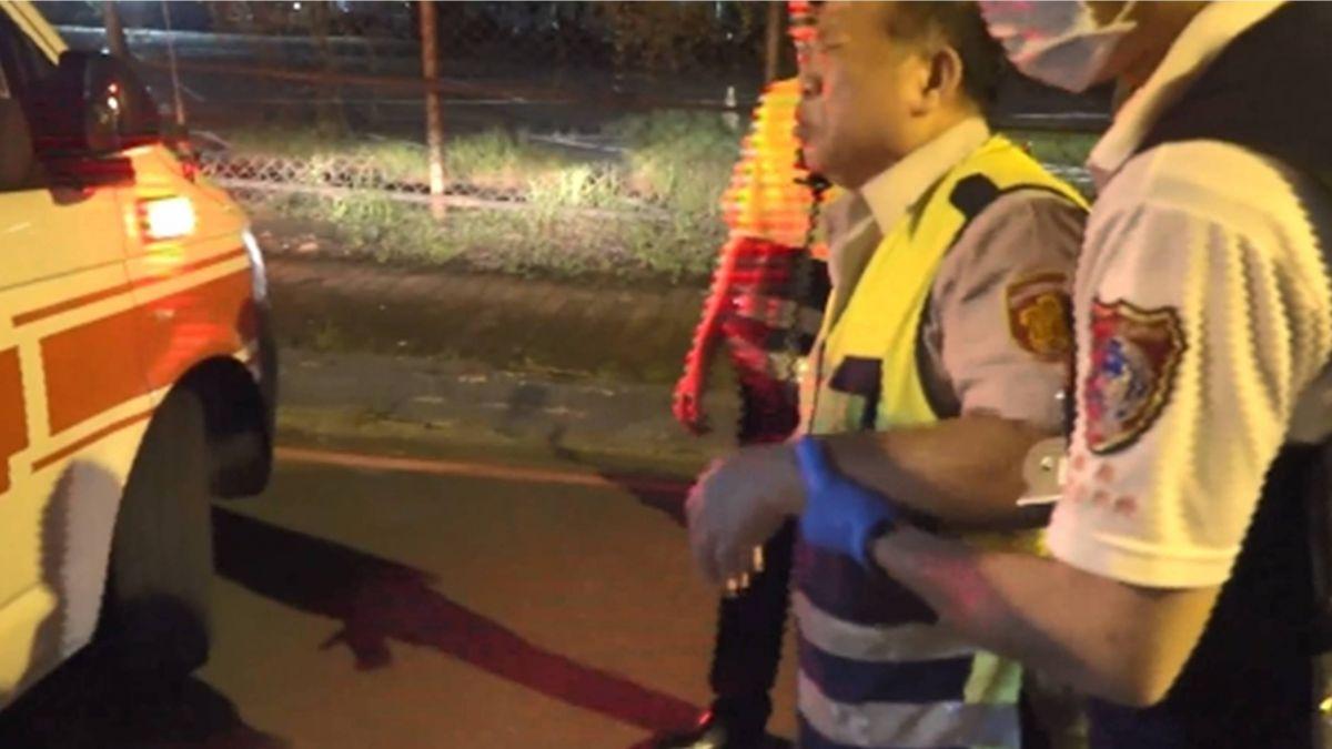 輔警支援酒駕拒測勤務 騎車左切遭貨車撞慘摔