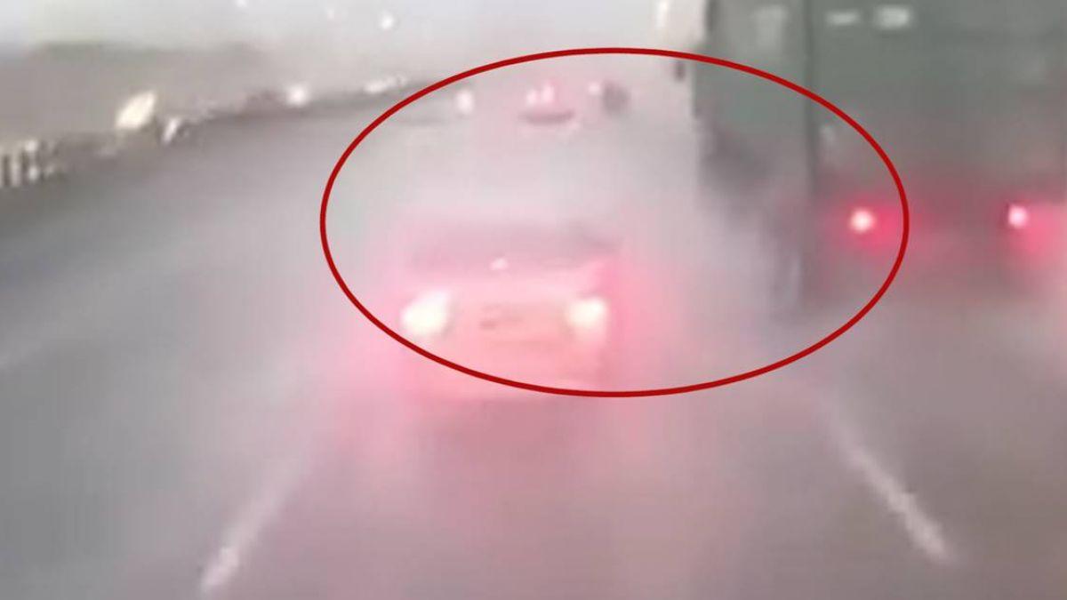 女三寶雨天急煞遭撞 國道下車查看 網驚:想死嗎?