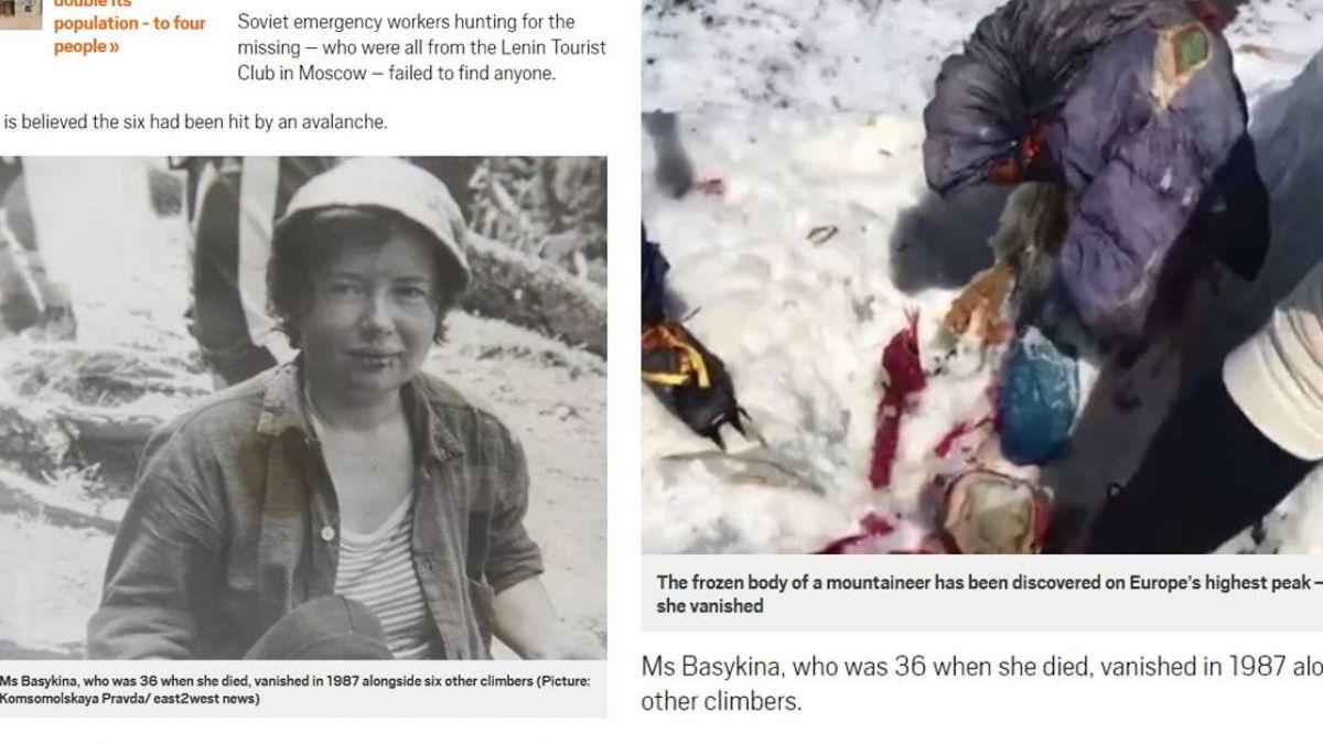 俄女潛入危險地區…失蹤31年後成「冰封木乃伊」!
