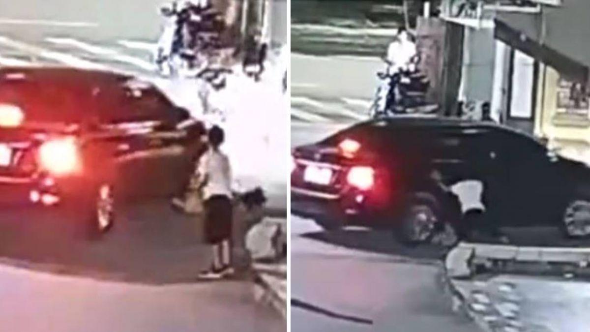 晚1秒就爆頭!8歲妹遭捲車底…10歲哥「奮力攔車」被狂讚