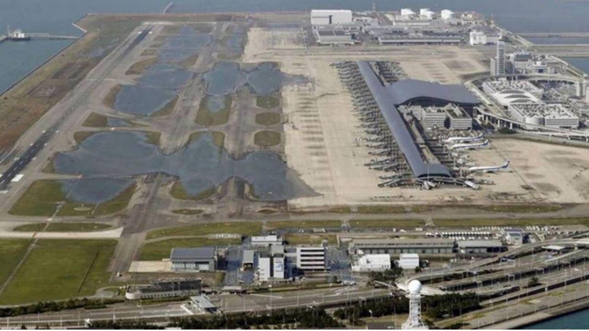 關西機場與海爭地24年 今因燕子強颱遭海水淹沒