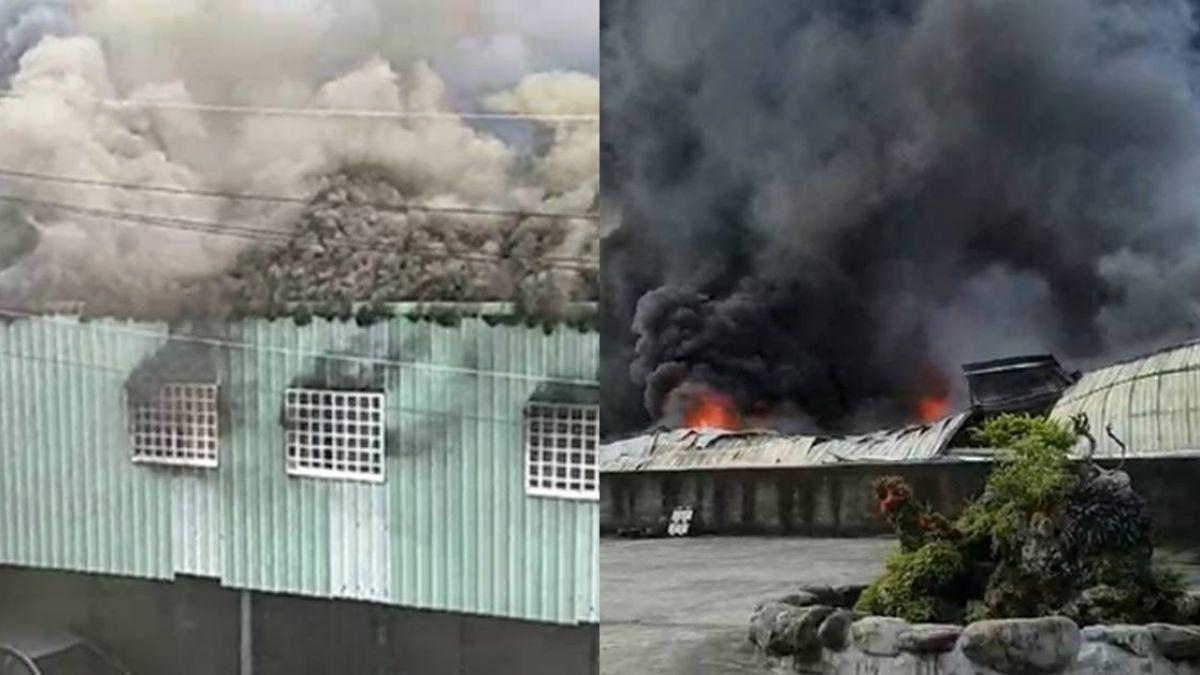 屏東工廠大火!數百坪廠房燒光 濃煙狂竄「高雄都看得見」