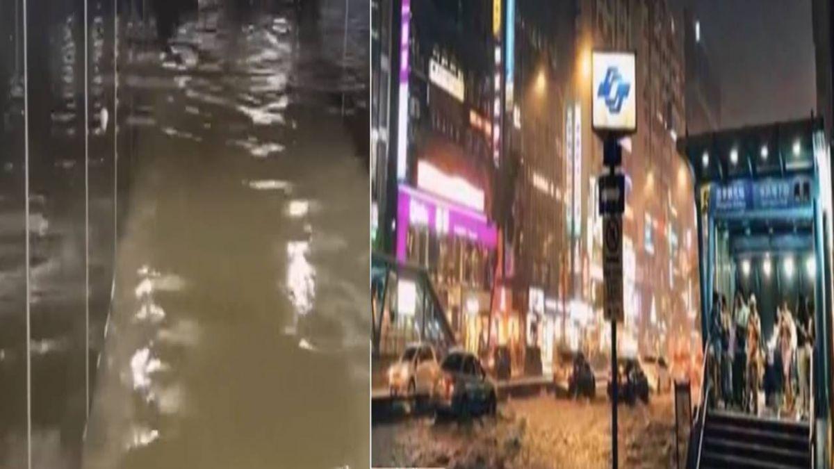 雨灌北市 東門地下道積水深一米 抽水搶通