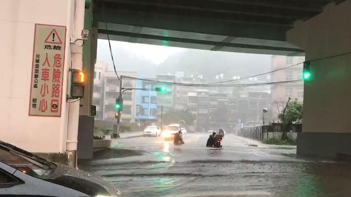 北部豪雨延續 基隆新北一級淹水警戒