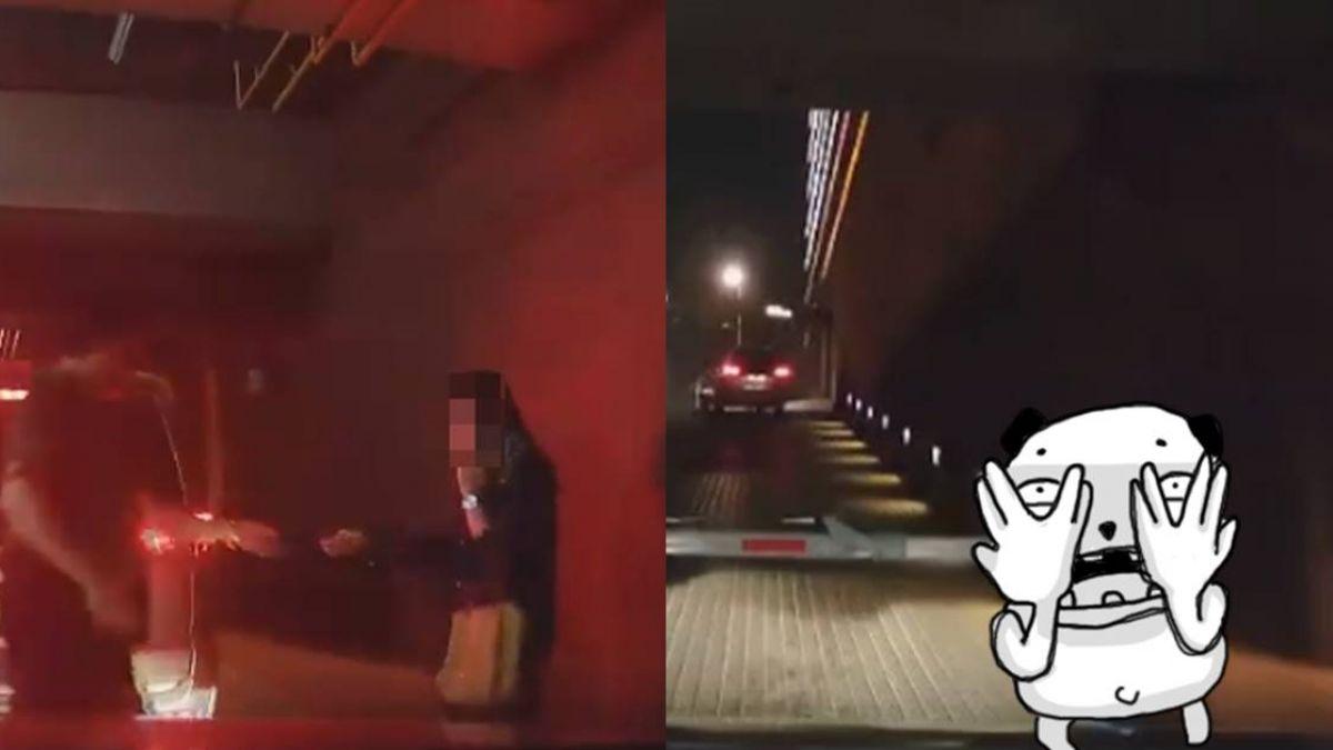 女車道狂奔慘被柵欄KO!「超療癒」網狂重播:擊敗了