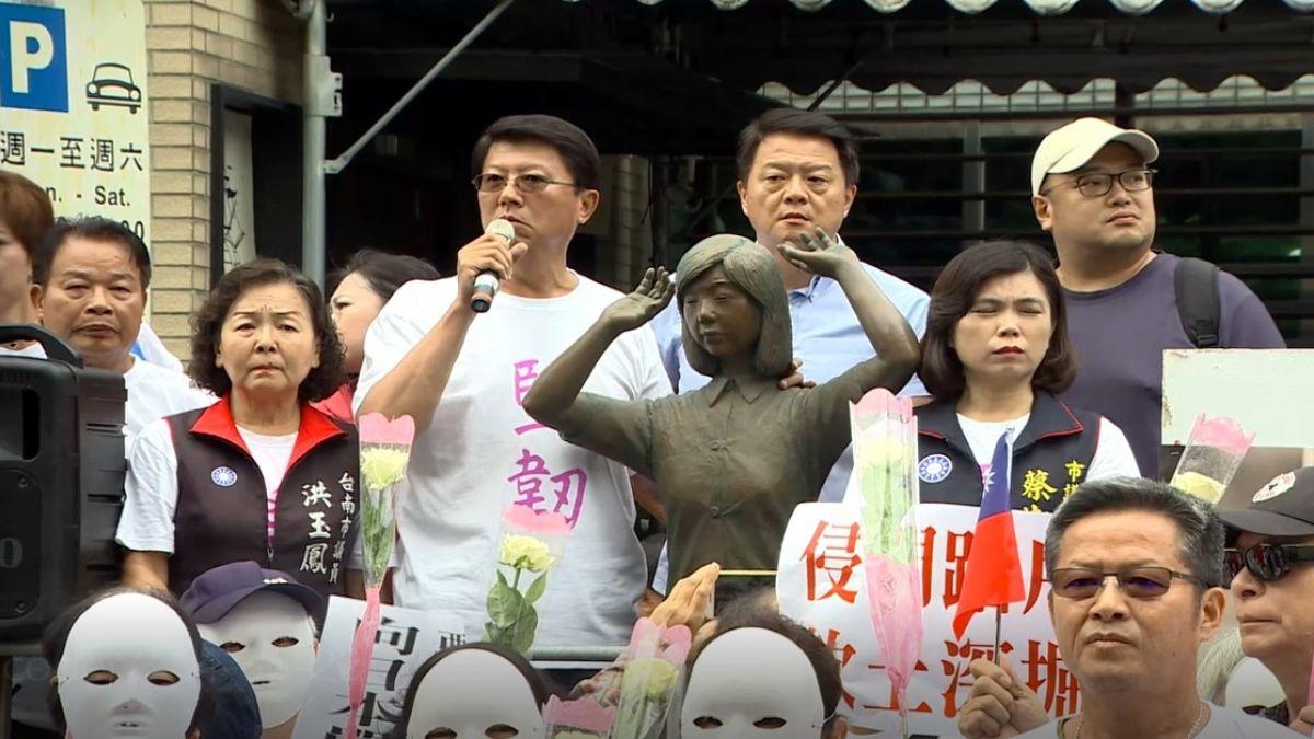 日人腳踹慰安婦銅像 謝龍介暴氣:該限制他出境