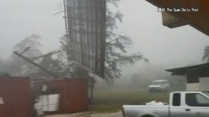 強颱山竹多可怕?  關島狂風影片曝光大家都嚇壞了