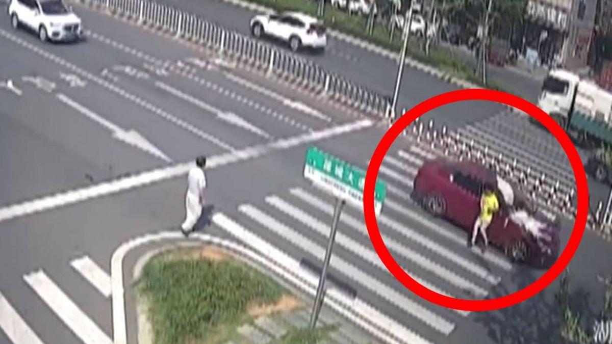 駕駛3秒轉頭罵小孩 行人過斑馬線被撞飛慘死