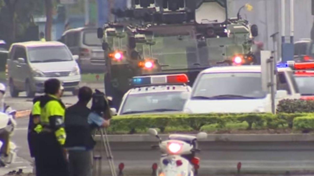 復安專案政軍兵推最終日 正副總統車隊進國防部