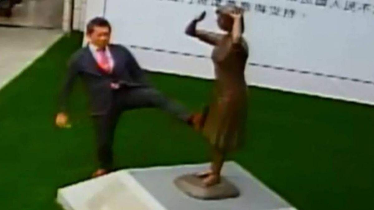 日人踹慰安婦銅像事件 所屬組織公開致歉