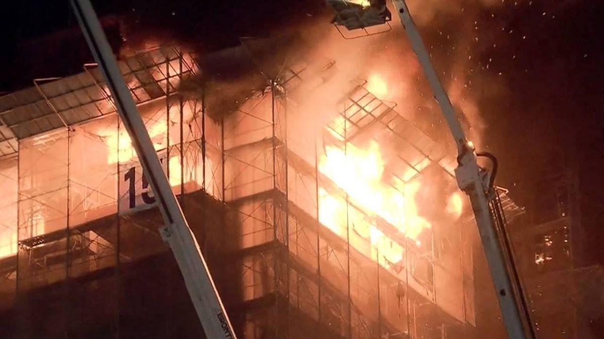 新莊新建大樓火警 15樓以上全陷火海