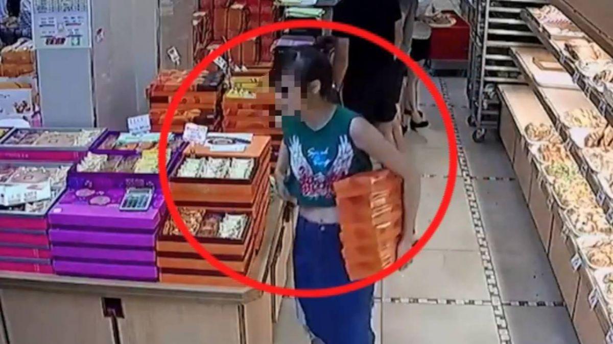 超誇張!女子搜刮名店禮盒 2度偷了10盒餅損失上千元