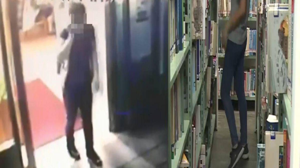 市立圖書館驚見色狼! 口罩男強拉落單女學生到角落騷擾