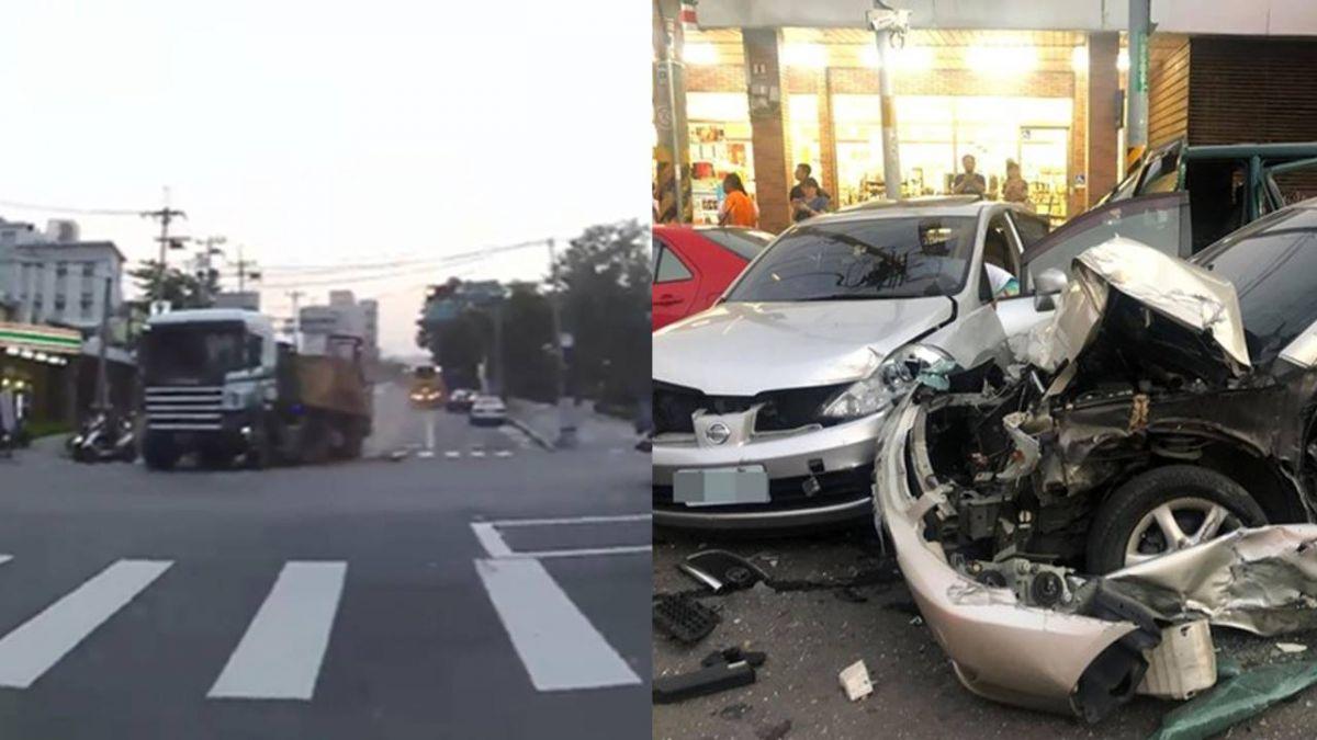 南投139線聯結車失速衝撞10多車 釀7傷1命危!驚悚畫面曝光