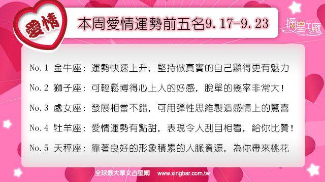 12星座本周愛情吉日吉時(9.17-9.23)