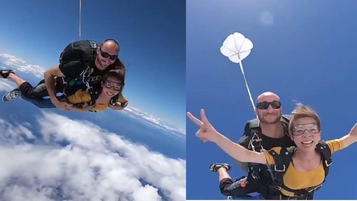 此生必做!體驗上帝視角 她14000英呎一躍而下…乘風而飛