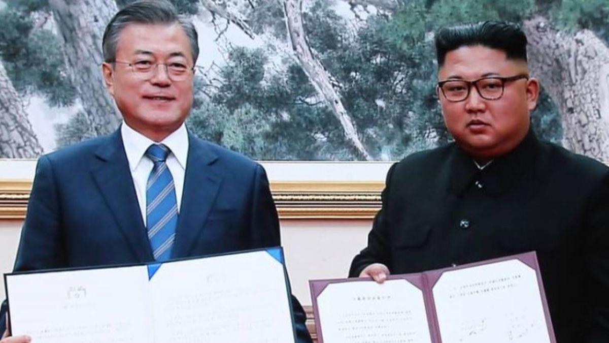 文金簽署平壤共同宣言 金正恩承諾回訪首爾
