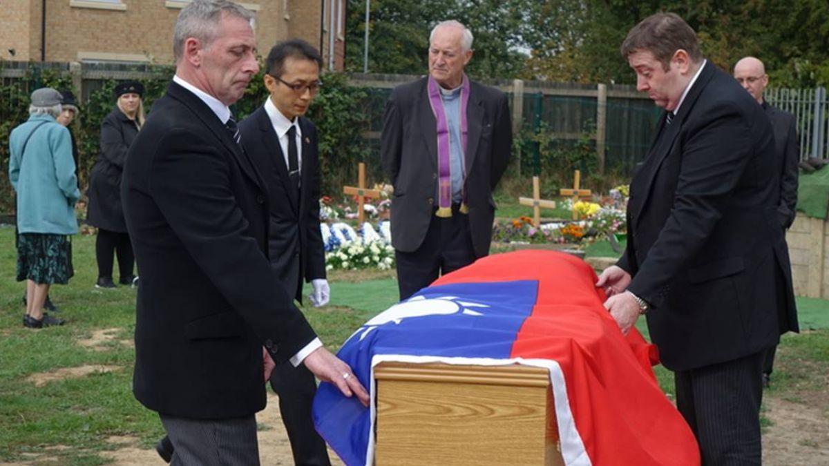 生前望「中華民國國旗覆棺」 英國二戰老兵完成遺願