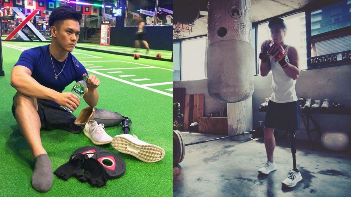 10歲遭輾左腿截肢、削屁股肉!他逆轉人生 健身練成精壯男