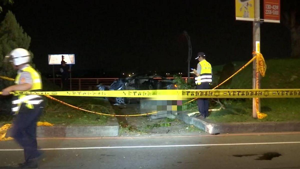 深夜出遊!年輕情侶撞護欄翻車 20歲女遭削頭皮慘死