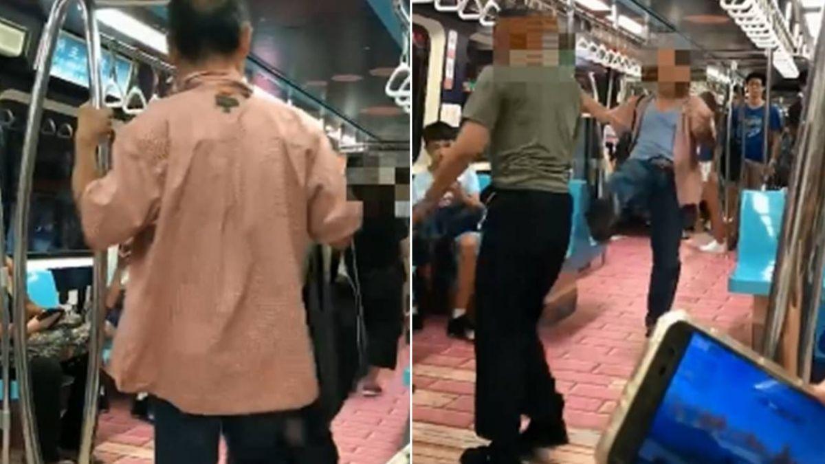 【獨家】北捷驚爆肢體衝突!醉漢失態遭正義哥制止 車廂上演全武行