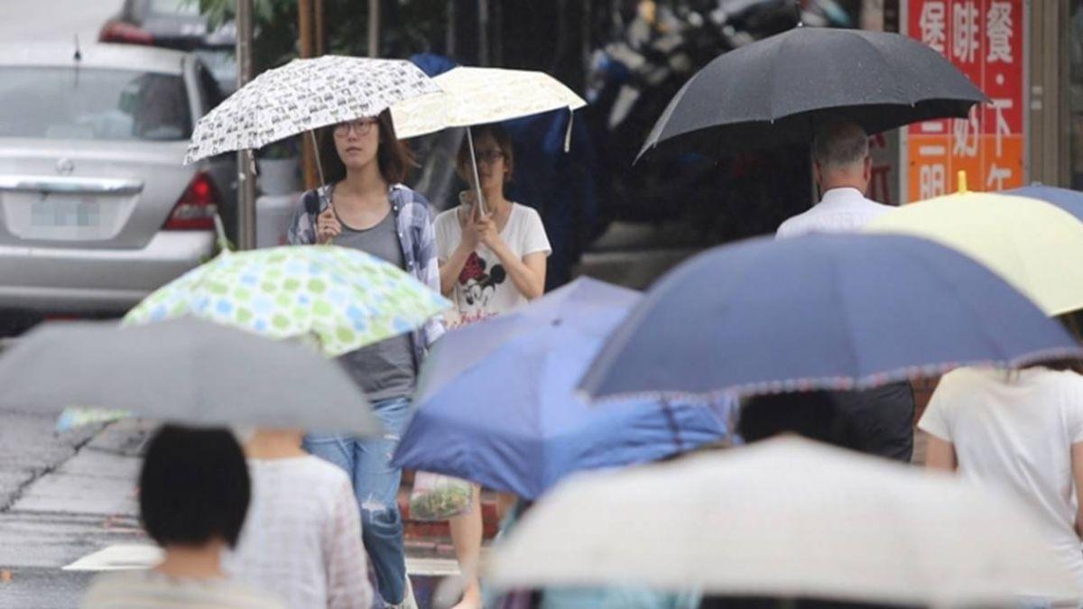 記得帶把傘!對流旺盛  16縣市大雨特報