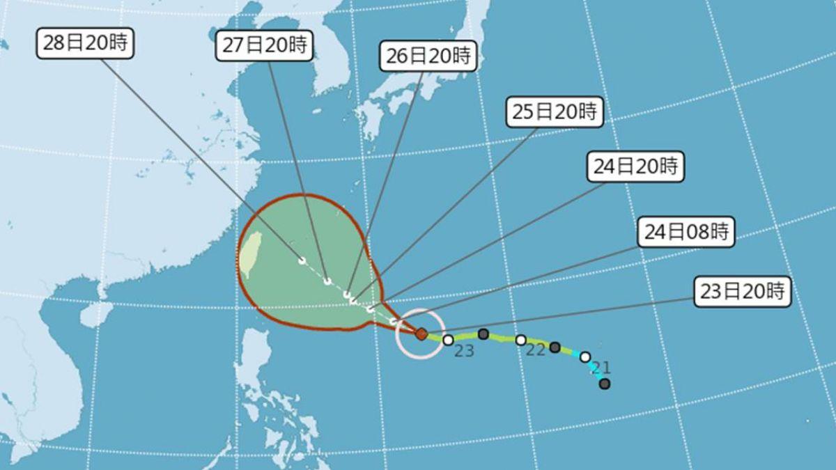 潭美颱風恐成強颱! 歐洲預報:恐成穿心颱貫穿台灣