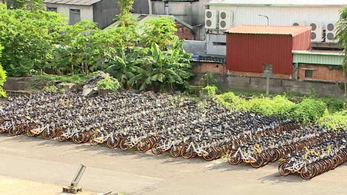 台大校園違停oBike逾千輛 像是「單車墳場」