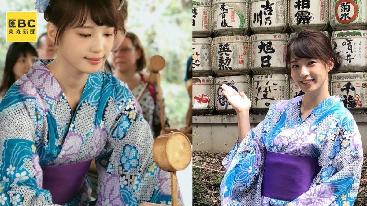 「台版結衣」被誤認櫻花妹!王牧語穿浴衣模樣超甜美