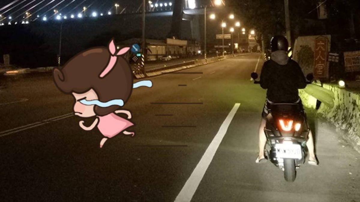 高雄到台南…她騎車2HR給驚喜 男友回程陪騎 網喊:可以嫁了!