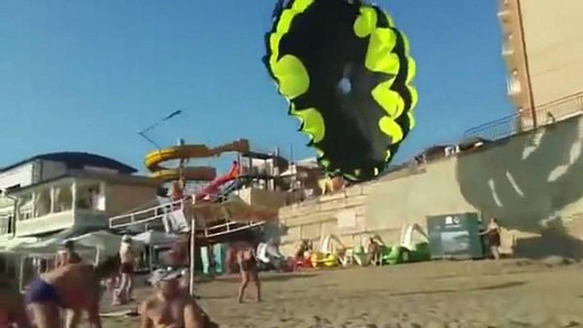 滑翔傘觸高壓電!高空失衡打轉…情侶30公尺處墜落命危