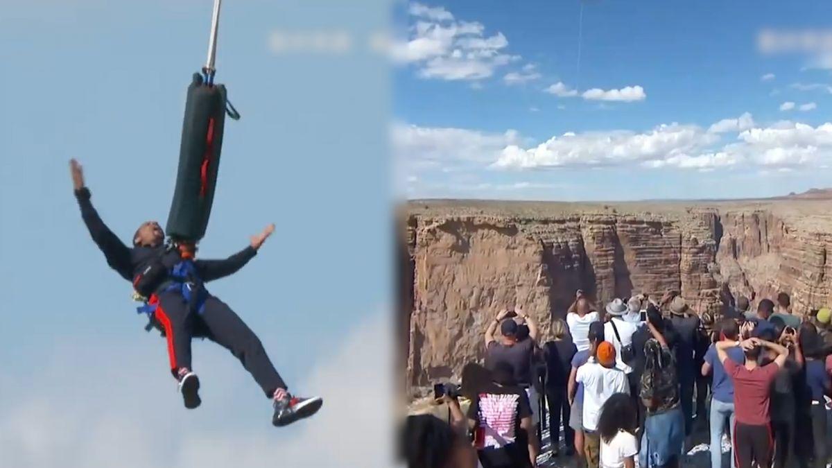 威爾史密斯50歲慶生狂出新高度!突破心魔飛大峽谷挑戰「高空蹦極」