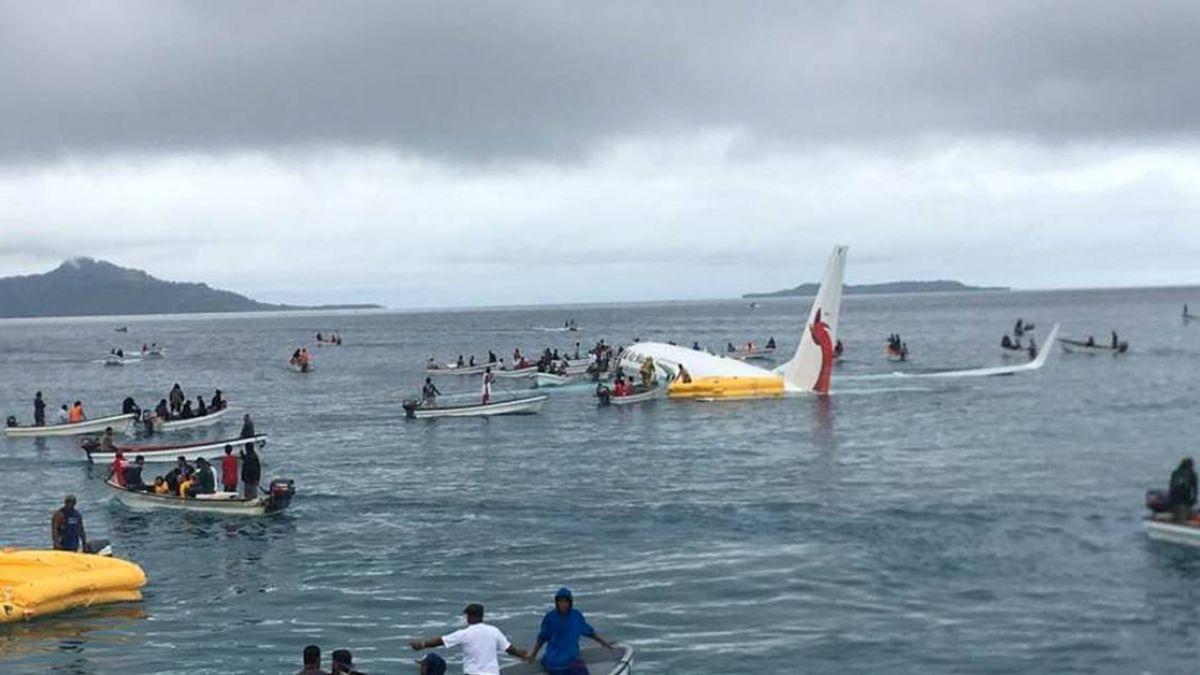 新幾內亞航空班機墜海 機上47人全獲救