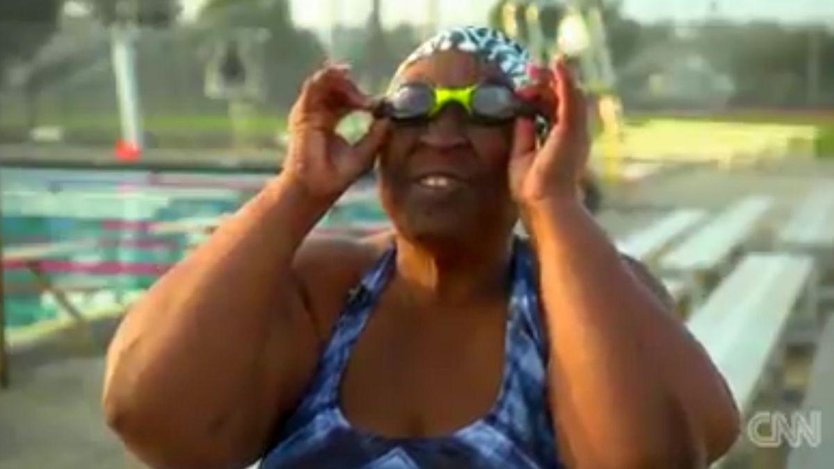 高血壓.糖尿病 醫師判活不過10年 百公斤盲女靠游泳自救續命