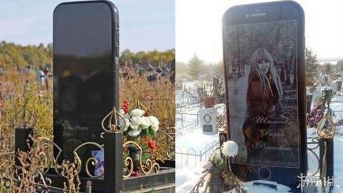 墓園驚見巨大iPhone 6!「骨灰級果粉」墓碑…背後真相鼻酸