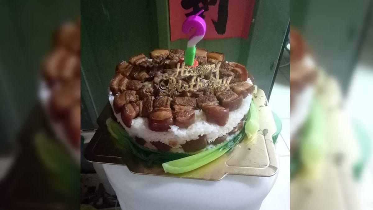 「控肉蛋糕」慶老公生日!人妻超神創意 上萬人狂讚:好想吃