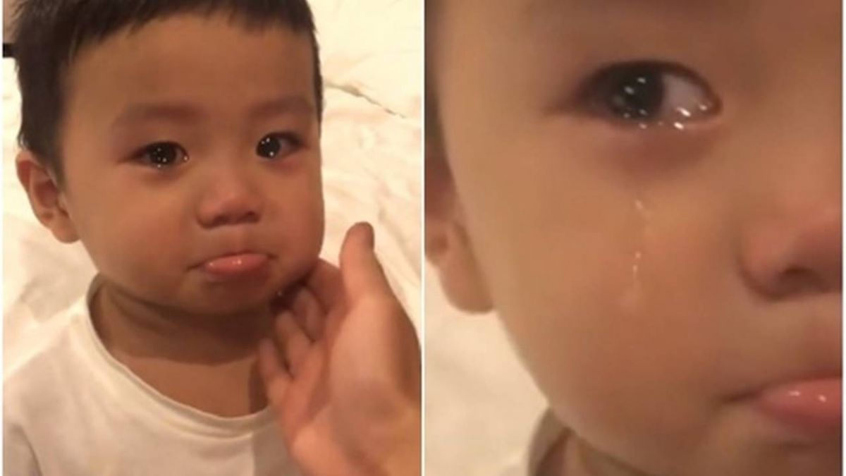 2歲娃被媽訓話…強忍淚水萌爆!網笑翻:寶寶心裡苦