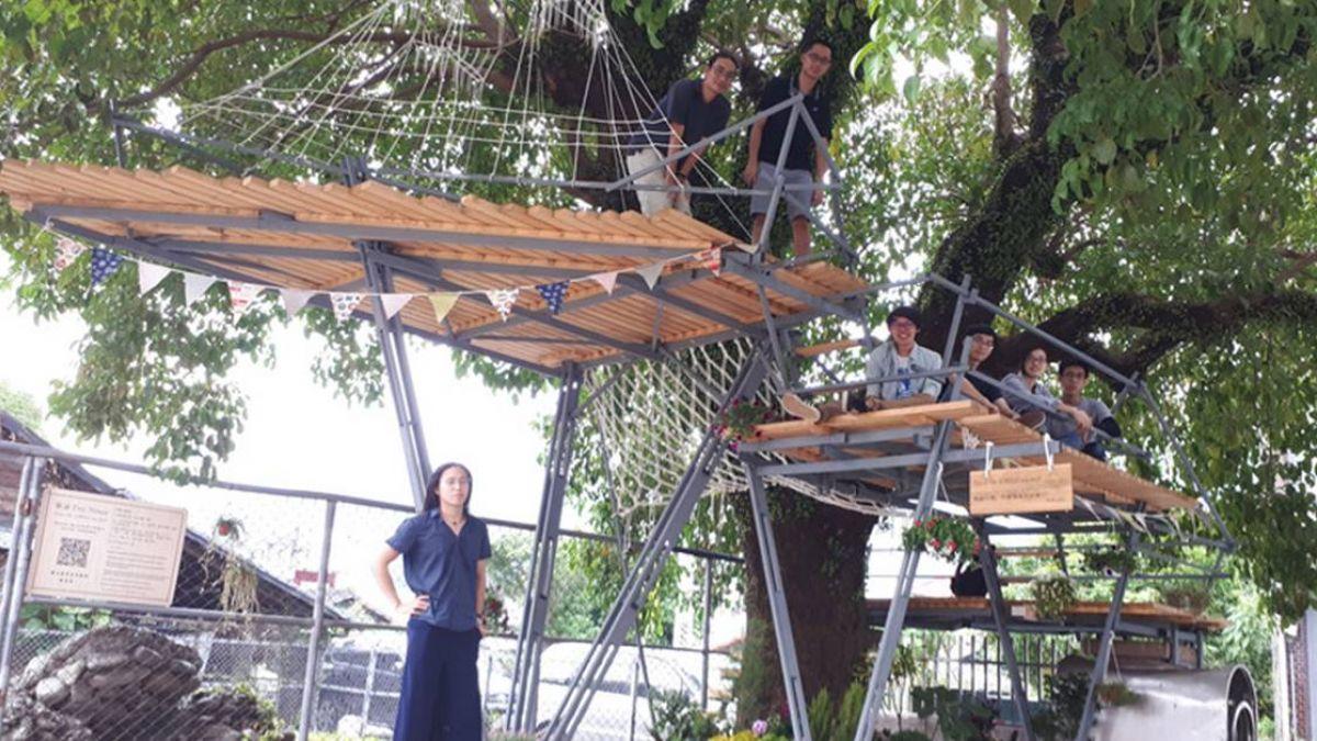 活化老屋搭木造樹屋 台科大為關山打造新風貌
