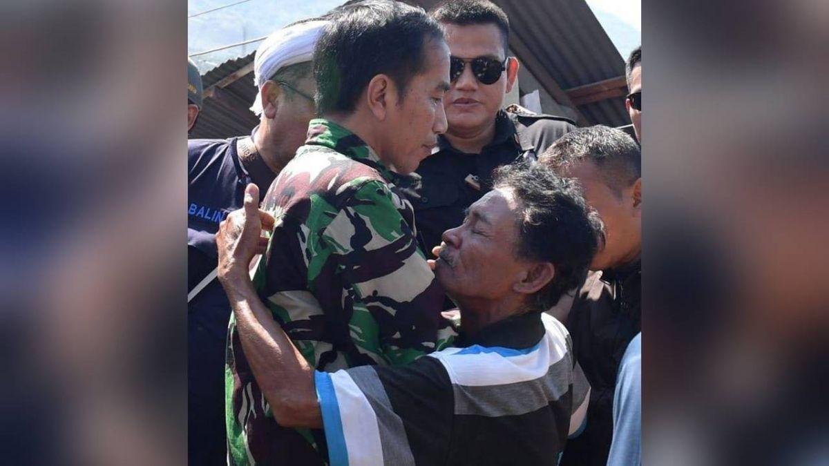 印尼強震海嘯 總統擁抱災民照片網路瘋傳