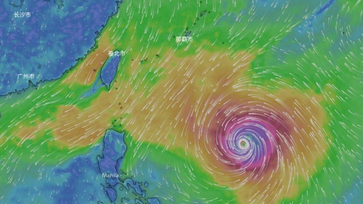 颱風康芮增強變大 氣象局估海警機率50%