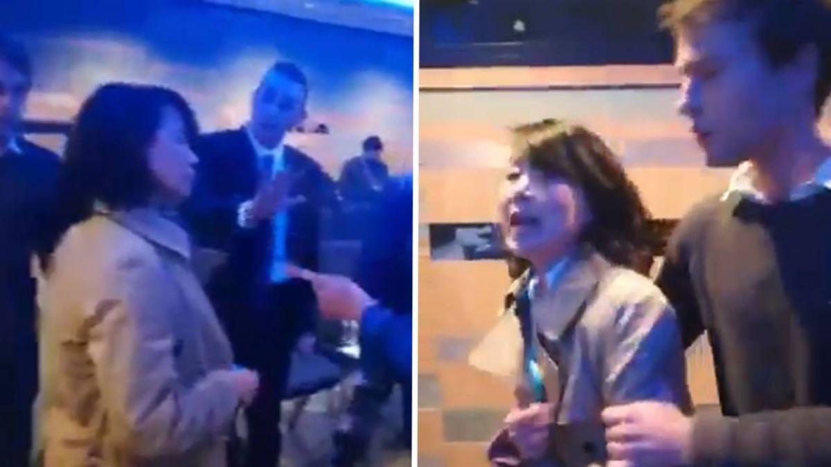 央視記者在英國座談會鬧場打人!大陸竟要求對方道歉