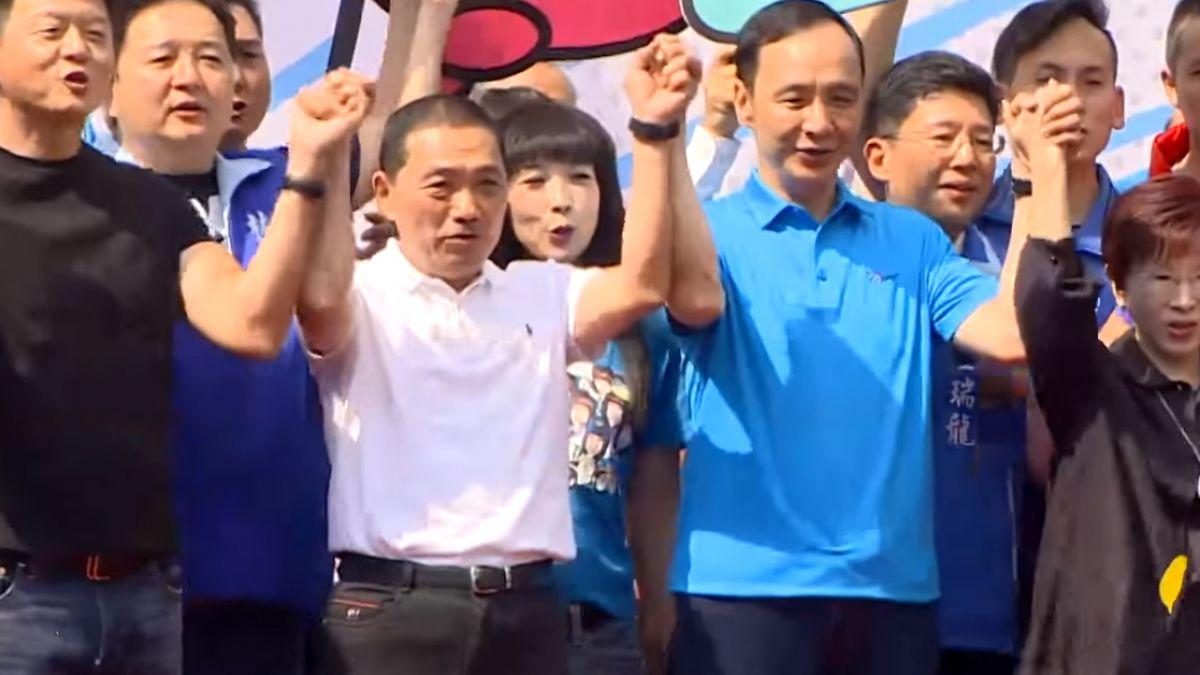 侯友宜競選總部成立 馬、朱、洪現身站台