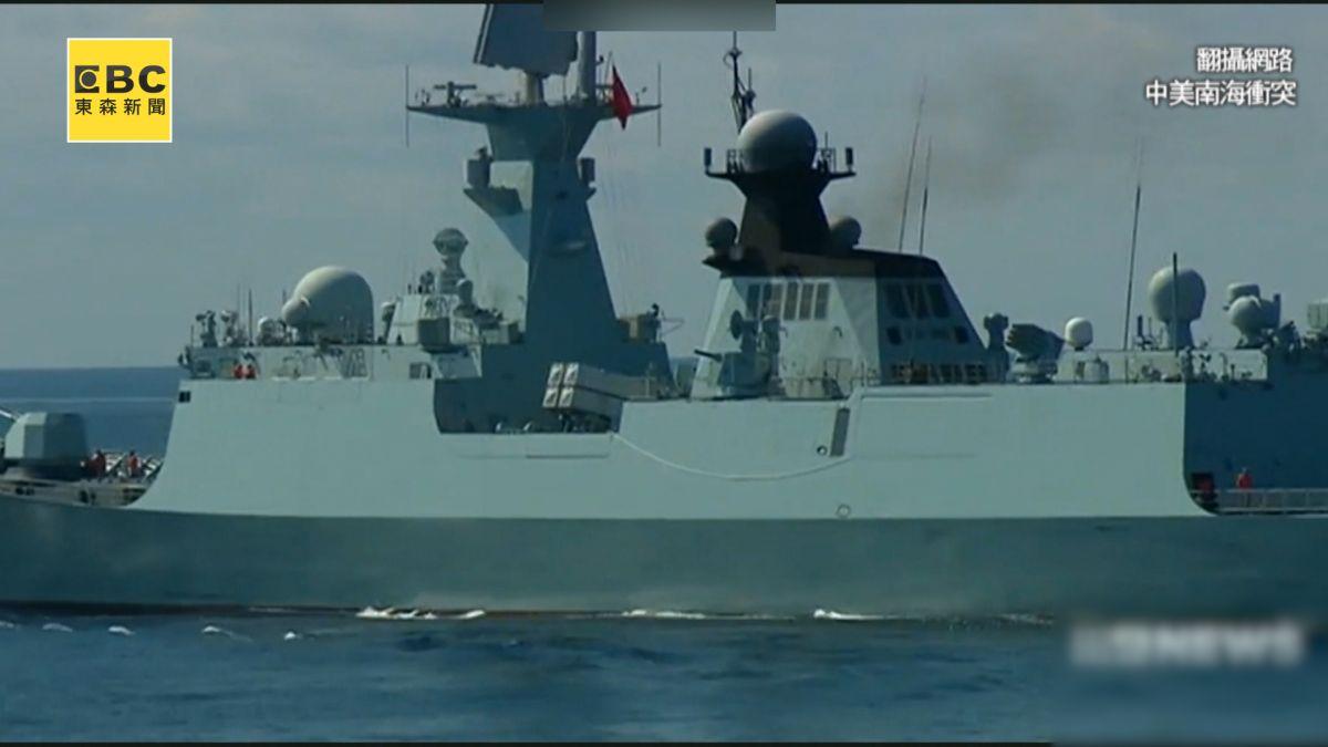 危險!南海驚心動魄「41公尺」 大陸戰艦就要怒撞美軍?!