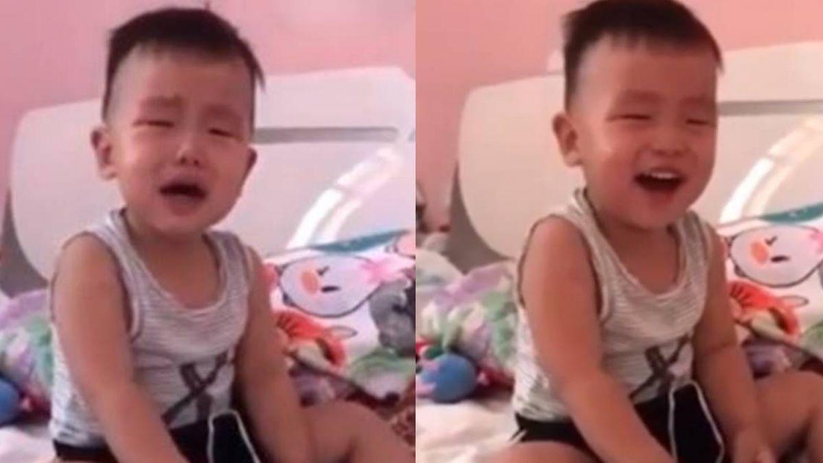 3秒轉換哭到笑!男童「魔性笑聲」超洗腦 網狂重播讚:專業